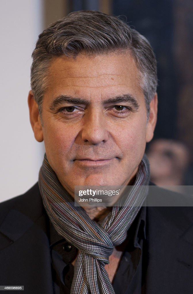 George Clooney attends a photocall for 'The Monuments Men' at The National Gallery on February 11, 2014 in London, England.