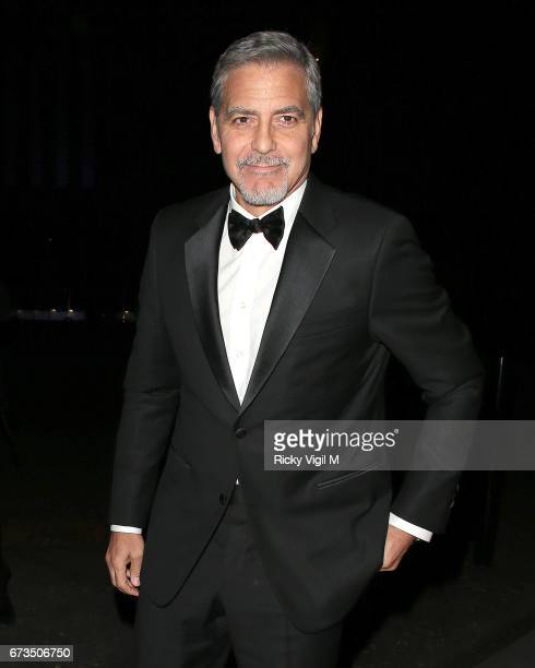 George Clooney attends Lost In Space anniversary party at Tate Modern to mark the 60th anniversary of Speedmaster on April 26 2017 in London England