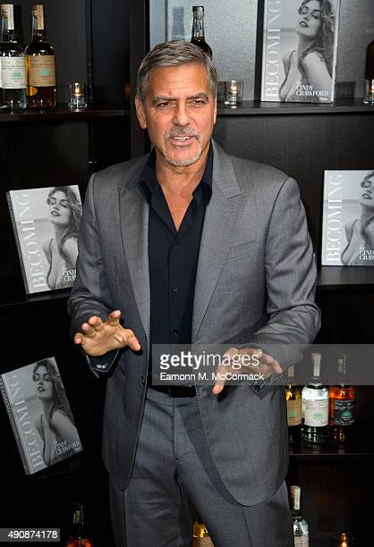 George Clooney attends the Casamingos Tequila Cindy Crawford book launch party at The Beaumont Hotel on October 1 2015 in London England