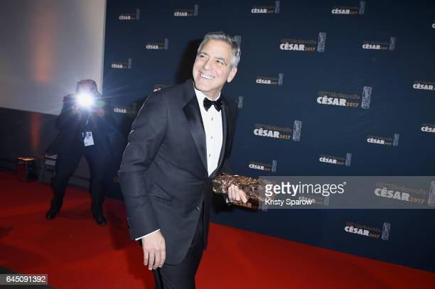George Clooney attends the Cesar Film Awards 2017 at Salle Pleyel on February 24 2017 in Paris France