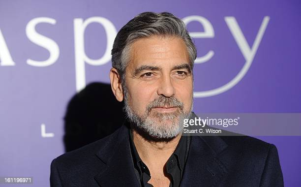 George Clooney attends the EE British Academy Film Awards nominees party at Asprey London on February 9 2013 in London England