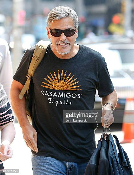 George Clooney attends the first taping of 'The Late Show With Stephen Colbert' on September 8 2015 in New York City