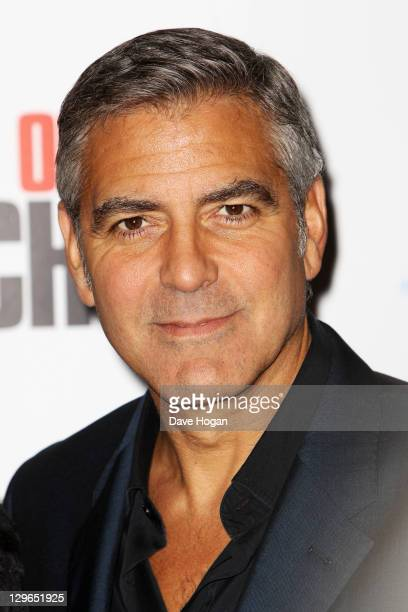 George Clooney attends the gala screening for 'The Ides Of March' at The 55th BFI London Film Festival at The Odeon Leicester Square on October 19...