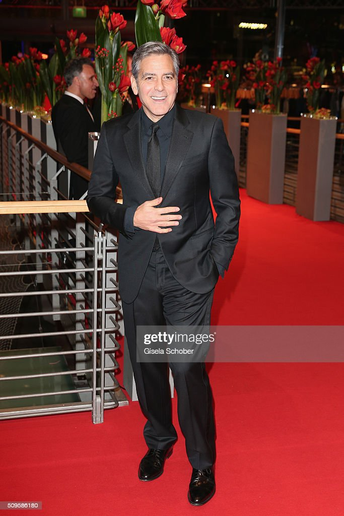 <a gi-track='captionPersonalityLinkClicked' href=/galleries/search?phrase=George+Clooney&family=editorial&specificpeople=202529 ng-click='$event.stopPropagation()'>George Clooney</a> attends the 'Hail, Caesar!' premiere during the 66th Berlinale International Film Festival Berlin at Berlinale Palace on February 11, 2016 in Berlin, Germany.