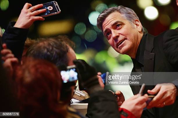 George Clooney attends the 'Hail Caesar' premiere during the 66th Berlinale International Film Festival Berlin at Berlinale Palace on February 11...