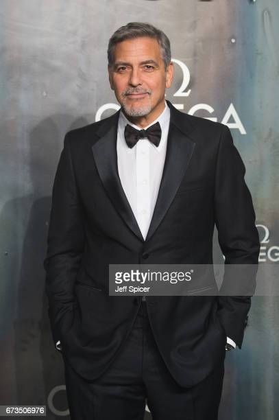 George Clooney attends the Lost In Space event to celebrate the 60th anniversary of the OMEGA Speedmaster which has been worn by every piloted NASA...
