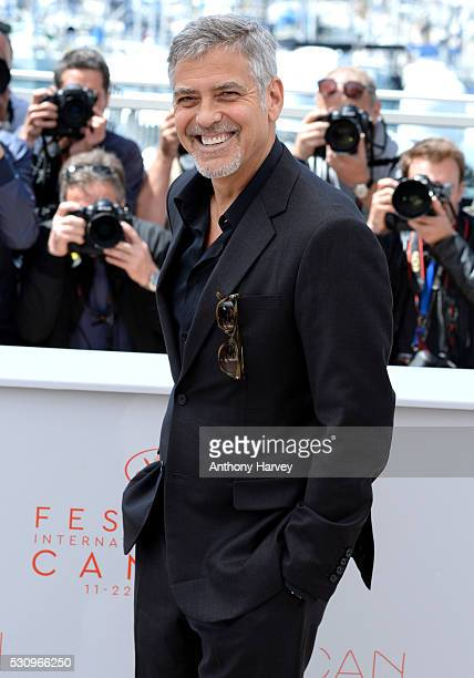 George Clooney attends the 'Money Monster' photocall during the 69th annual Cannes Film Festival at the Palais des Festivals on May 12 2016 in Cannes...