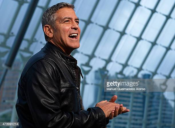 George Clooney attends the premiere of Disney's 'Tomorrowland' at the L'Hemisferic on May 19 2015 in Valencia Spain