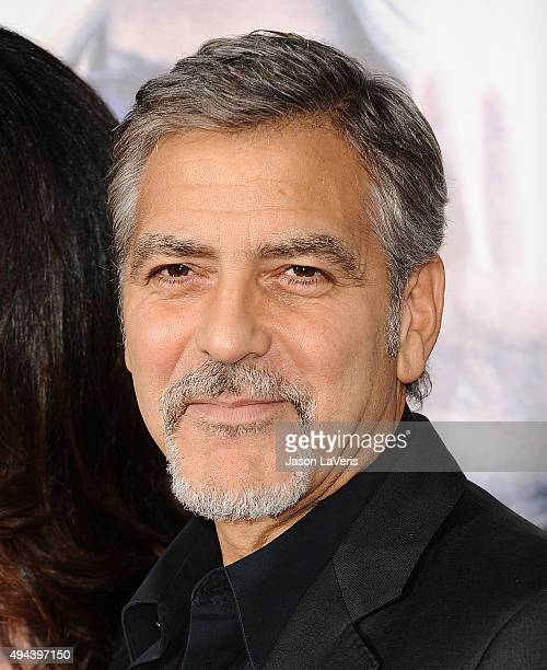 George Clooney attends the premiere of 'Our Brand Is Crisis' at TCL Chinese Theatre on October 26 2015 in Hollywood California