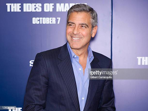 George Clooney attends the premiere of 'The Ides of March' at the Ziegfeld Theater on October 5 2011 in New York City