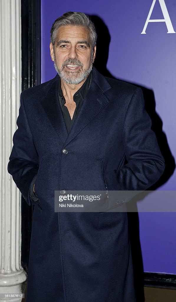 <a gi-track='captionPersonalityLinkClicked' href=/galleries/search?phrase=George+Clooney&family=editorial&specificpeople=202529 ng-click='$event.stopPropagation()'>George Clooney</a> attends the The EE British Academy Film Awards Nominees Party at Asprey on February 9, 2013 in London, England.