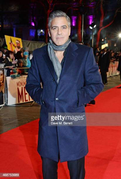 George Clooney attends the UK Premiere of 'The Monuments Men' at Odeon Leicester Square on February 11 2014 in London England