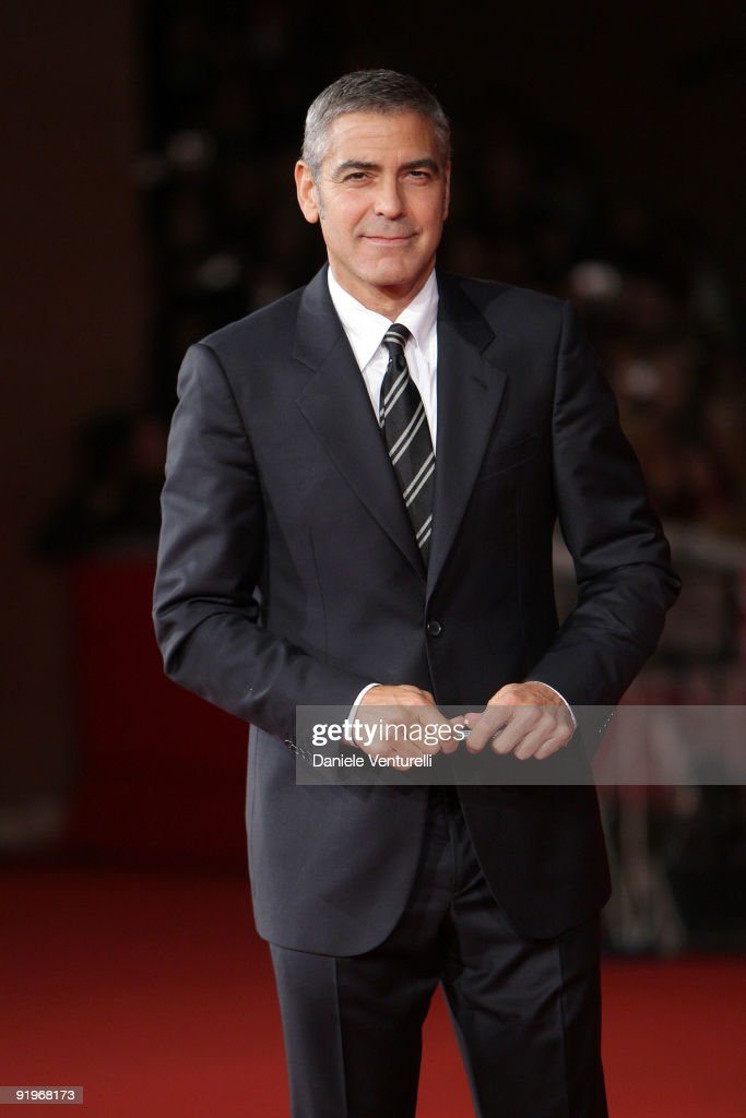 George Clooney attends the 'Up In The Air' Premiere during Day 3 of the 4th International Rome Film Festival held at the Auditorium Parco della...