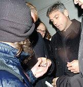George Clooney during George Clooney Sighting at Nobu in London February 7 2006 at Nobu in London Great Britain
