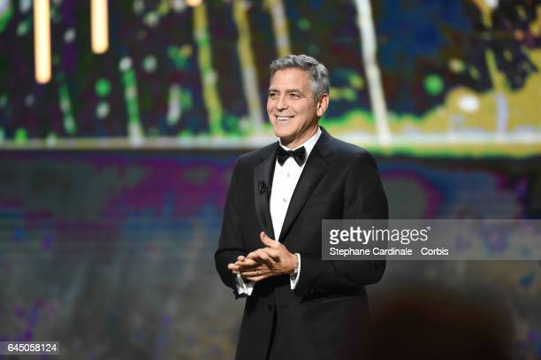 George Clooney during the Cesar Film Awards 2017 ceremony at Salle Pleyel on February 24 2017 in Paris France