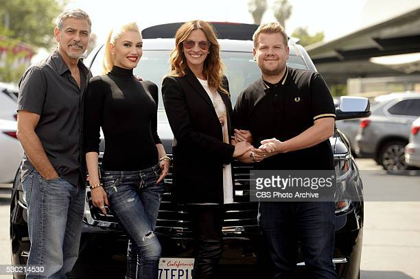 George Clooney Gwen Stefani and Julia Roberts join James Corden for Carpool Karaoke on 'The Late Late Show with James Corden' Wednesday May 4th 2016...