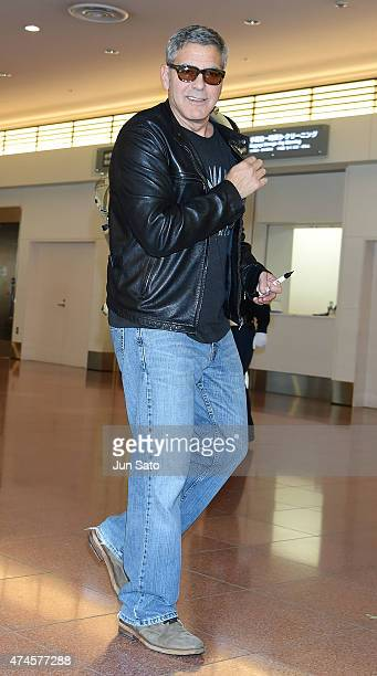 George Clooney is seen upon arrival at Haneda Airport on May 24 2015 in Tokyo Japan