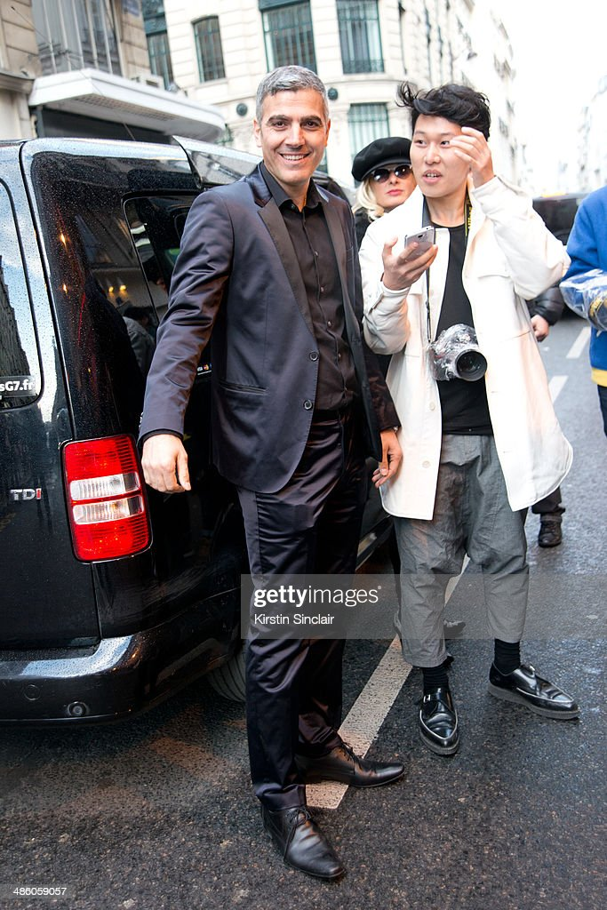 George Clooney look a like on day 5 of Paris Collections Women on March 01 2014 in Paris France