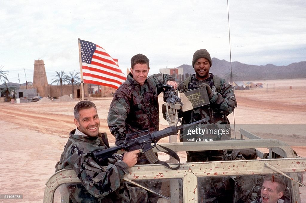 George Clooney Mark Wahlberg And Ice Cube Star In 'Three Kings' '99 Wb And Village Roadshow Film Limited