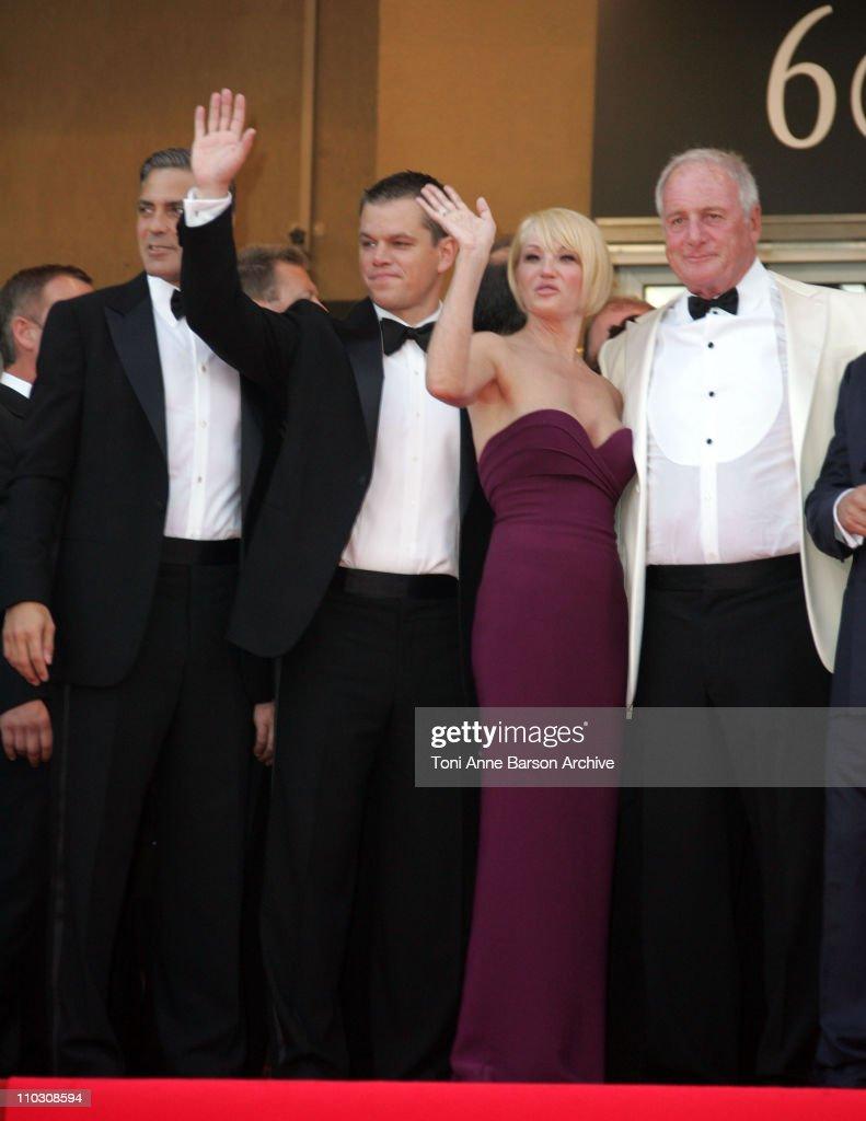 George Clooney, Matt Damon, Ellen Barkin and Jerry Weinstraub