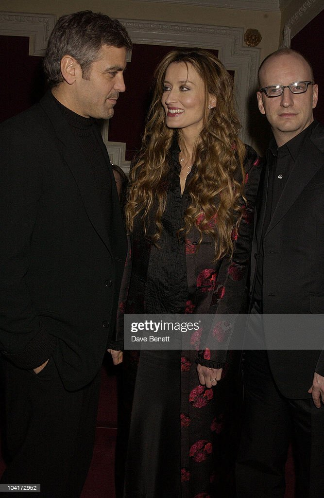 George Clooney, Natasha Mcelhone And Steven Soderbergh, Charity Screening And Party For The Movie Ôsolaris' Hosted By Harpers And Queen In Aid Of Ôfacing The World' A Charity Which Helps Children From Poor Countries To Recieve Plastic Surgery (natasha Mcelhone's Husband Is One Of The Charity's Leading Surgeons) At The Electric Cinema, Notting Hill, London