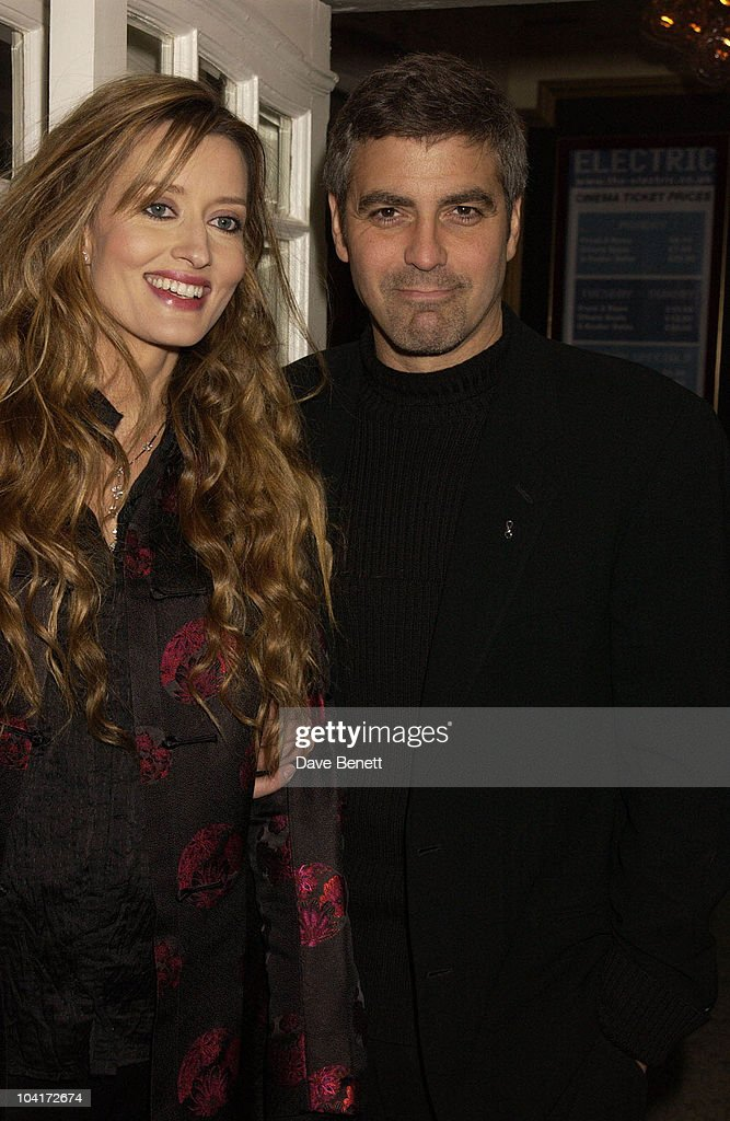 George Clooney & Natasha Mcelhone, Charity Screening And Party For The Movie Ôsolaris' Hosted By Harpers And Queen In Aid Of Ôfacing The World' A Charity Which Helps Children From Poor Countries To Recieve Plastic Surgery (natasha Mcelhone's Husband Is One Of The Charity's Leading Surgeons) At The Electric Cinema, Notting Hill, London