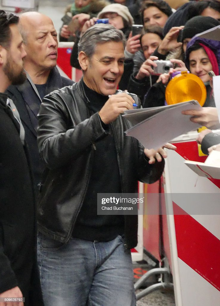 <a gi-track='captionPersonalityLinkClicked' href=/galleries/search?phrase=George+Clooney&family=editorial&specificpeople=202529 ng-click='$event.stopPropagation()'>George Clooney</a> sighted during the 66th Berlinale International Film Festival Berlin at the Grand Hyatt Hotel on February 11, 2016 in Berlin, Germany.