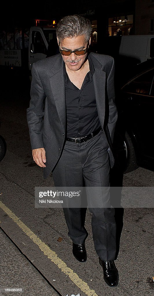 <a gi-track='captionPersonalityLinkClicked' href=/galleries/search?phrase=George+Clooney&family=editorial&specificpeople=202529 ng-click='$event.stopPropagation()'>George Clooney</a> sighting at Lulu Restaurant, Mayfair on May 25, 2013 in London, England.