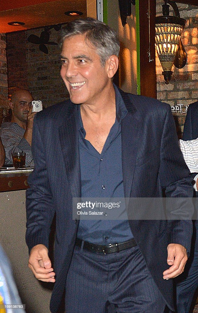 George Clooney sighting leaving Rocco's Tacos on January 8, 2013 in Fort Lauderdale, Florida.
