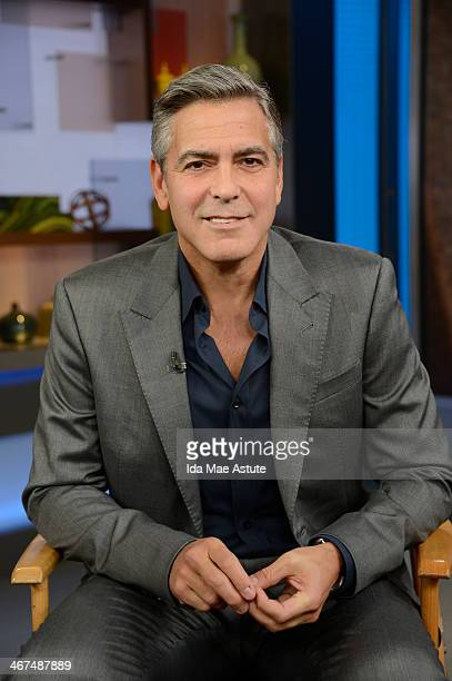 AMERICA George Clooney takes over GOOD MORNING AMERICA 2/6/14 airing on the ABC Television Network GEORGE