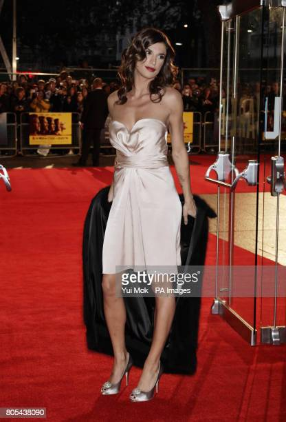 George Clooney's girlfriend Elisabetta Canalis arriving for the London Film Festival premiere of 'The Men Who Stare At Goats' at the Odeon Leicester...
