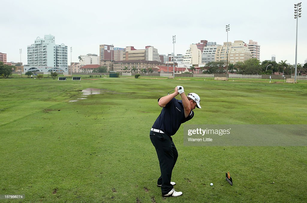 George Coetzee of South Africa in action during the first round of The Nelson Mandela Championship presented by ISPS Handa at Royal Durban Golf Club on December 8, 2012 in Durban, South Africa.