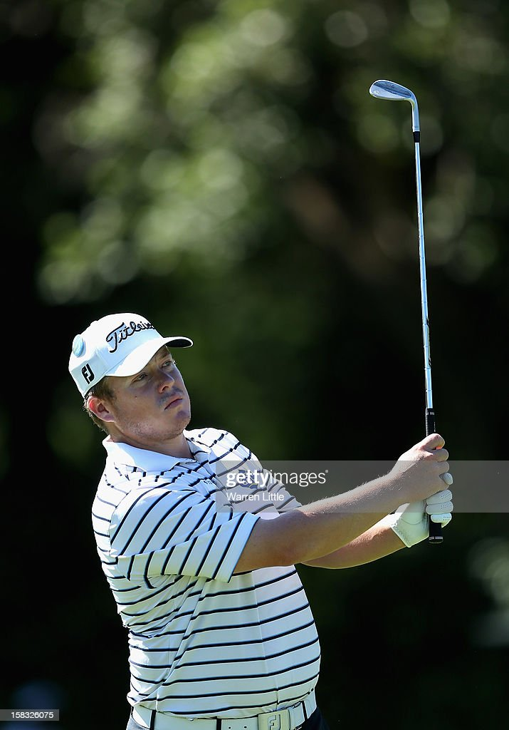 George Coetzee of South Africa in action during the first round of the Alfred Dunhill Championship at Leopard Creek Country Golf Club on December 13, 2012 in Malelane, South Africa.