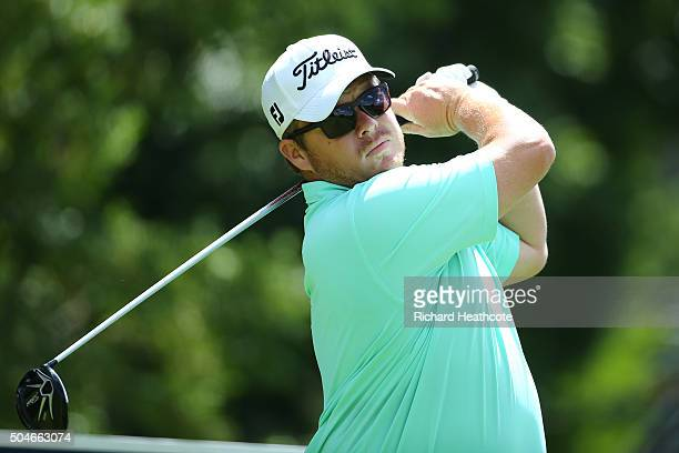 George Coetzee of South Africa in action during the proam for the Joburg Open at Royal Johannesburg and Kensington Golf Club on January 12 2016 in...