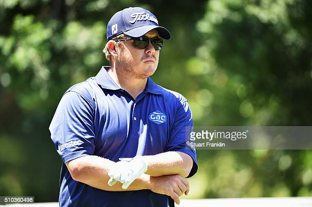 George Coetzee of South Africa looks on during the final round of the Tshwane Open at Pretoria Country Club on February 14 2016 in Pretoria South...