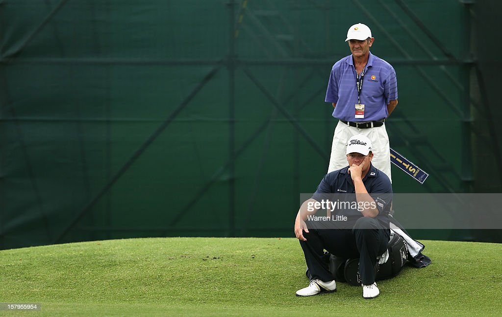 George Coetzee of South Africa looks on during the first round of The Nelson Mandela Championship presented by ISPS Handa at Royal Durban Golf Club on December 8, 2012 in Durban, South Africa.