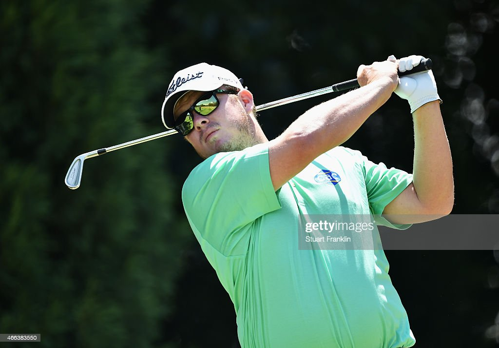 George Coetzee of South Africa plays a shot during the final round of the Tshwane Open at Pretoria Country Club on March 15 2015 in Pretoria South...
