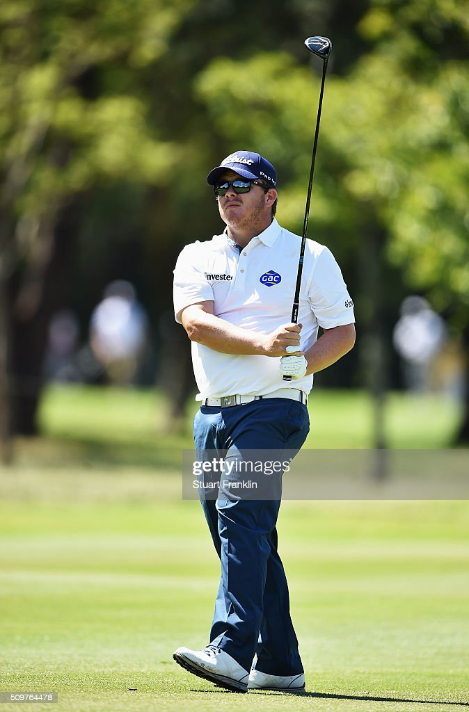 <a gi-track='captionPersonalityLinkClicked' href=/galleries/search?phrase=George+Coetzee&family=editorial&specificpeople=4687881 ng-click='$event.stopPropagation()'>George Coetzee</a> of South Africa plays a shot during the second round of the Tshwane Open at Pretoria Country Club on February 12, 2016 in Pretoria, South Africa.