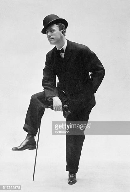George Cohan full legnth with cane Early Life In 'Little Johnny Jones' 1905