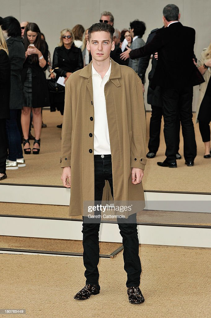 George Craig arrives at Burberry Prorsum Womenswear Spring/Summer 2014 show during London Fashion Week at Kensington Gardens on September 16, 2013 in London, England.