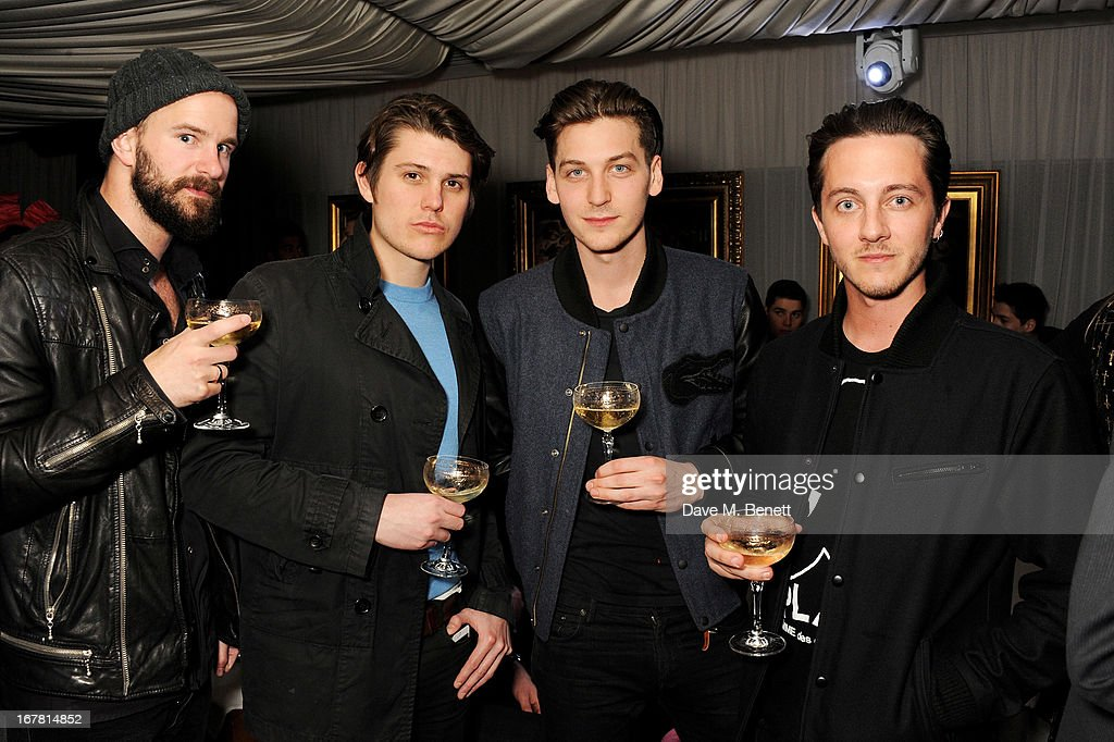 George Craig (2R) attends the launch of Baroque's new cabaret show at the Mayfair nightspot Baroque, at Playboy Club London on April 30, 2013 in London, England.
