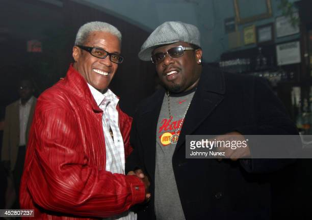 George Daniels and Cedric The Entertainer during Kenny Burns and Little X's Birthday Party at NA in New York New York United States