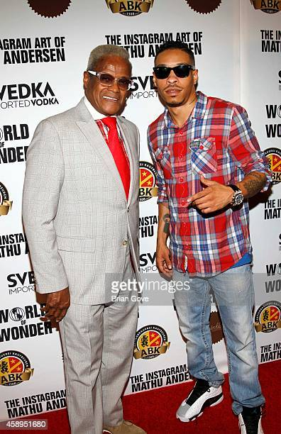 George Daniels and Chef Sean attend the instagram art of Mathu Andersen exhibition opening party at World Of Wonder on November 13 2014 in Hollywood...