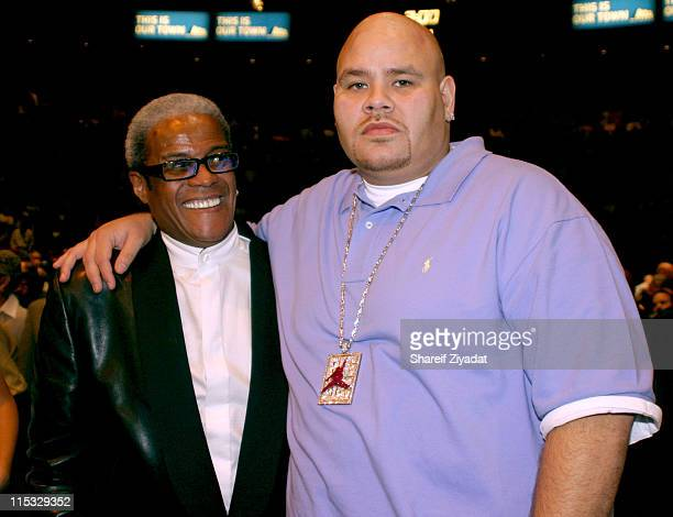 George Daniels and Fat Joe during Celebrity Guests at Byrd vs Golota Fight at Madison Square Garden in New York City New York United States