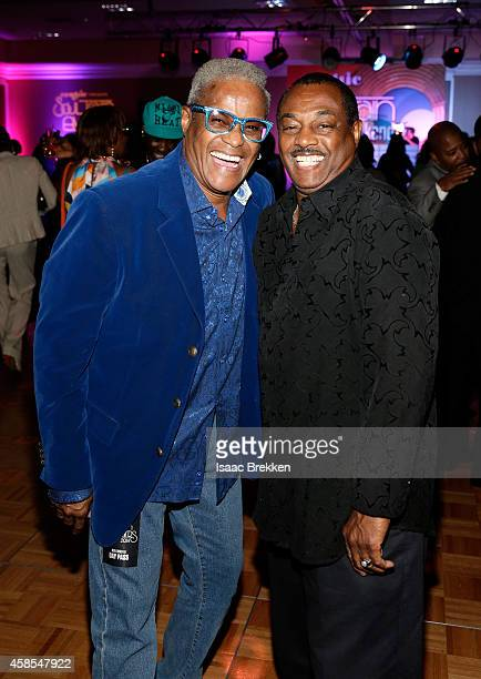 George Daniels and guest attend the 2014 Soul Train Music Awards Centric Soul Train Weekend KickOff Reception at The Orleans Hotel Dauphine Ballroom...