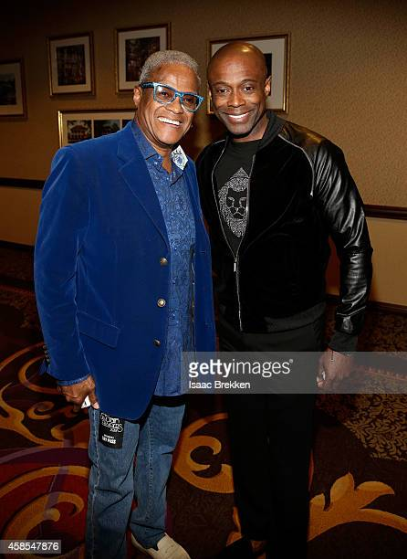 George Daniels and singer Kem attend the 2014 Soul Train Music Awards Centric Soul Train Weekend KickOff Reception at The Orleans Hotel Dauphine...