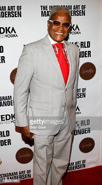 George Daniels attends the instagram art of Mathu Andersen exhibition opening party at World Of Wonder on November 13 2014 in Hollywood California