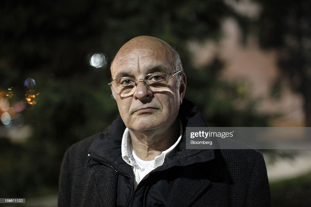 George Diakoronas, a gynecologist and chairman of the nationalist Golden Dawn party, poses for a photograph in the town of Mytilene on the island of Lesbos, Greece, on Sunday, Dec. 9, 2012. In recent months, Lesbos has become a hot spot for migrants as Greece struggles to cope with waves of refugees from Middle Eastern conflict even as it reels from economic crisis at home. Photographer: Kostas Tsironis/Bloomberg via Getty Images