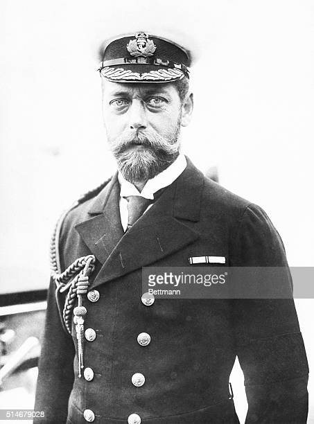 George Duke of York wears his Captain's uniform on his ship HMS Crescent He later ascended to King of England