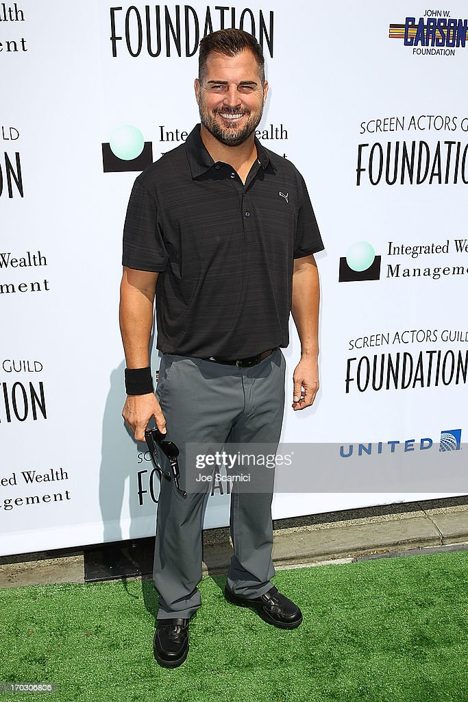 <a gi-track='captionPersonalityLinkClicked' href=/galleries/search?phrase=George+Eads&family=editorial&specificpeople=206447 ng-click='$event.stopPropagation()'>George Eads</a> arrives to the Screen Actors Guild Foundation's 4th annual Los Angeles golf classic at Lakeside Golf Club on June 10, 2013 in Burbank, California.
